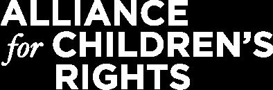 Alliance for Children's Rights Logo White